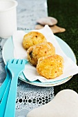 Rice balls with blue cheese