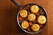 Welsh beef goulash with rosemary biscuits