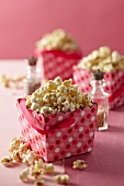 Popcorn in Pink Polk-a-Dot Containers