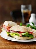 BLT sandwich on a plate
