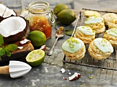 Lime and coconut whoopie pies