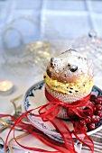 Mini panettone filled with mascarpone cream