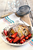 Panettone French toast with strawberries