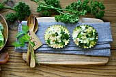 Broccoli tartlets