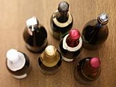 Various bottles of champagne