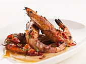 Grilled Shrimp served with Herbed Mayonnaise