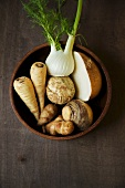 Bowl of Root Vegetables