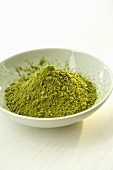 Small Bowl Filled with Green Tea Powder
