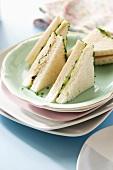Tuna and cucumber sandwiches
