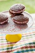 Whoopie pies decorated with sugar sprinkles