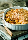 Vegetable bake with potatoes, squash and carrots