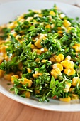 Chickweed with sweetcorn