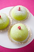 Marzipan cakes with rose buds (Sweden)