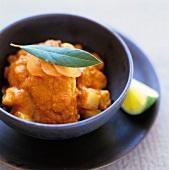 Saffron chicken with potatoes
