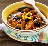 Chicken stew with olives and oranges (Provence, France)