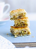 A stack of baklava