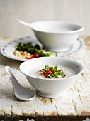 Rice congee with chilli and coriander (Asia)