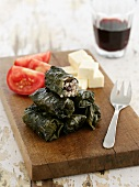 Dolmades (Stuffed vine leaves, Greece)