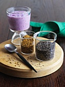 Chia Seeds and Berry Smoothie