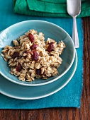 Bowl of Oatmeal with Dried Fruit