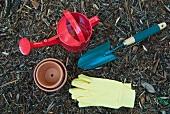 Various gardening utensils