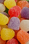 Lots of colourful jelly sweets