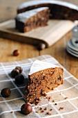 Hazelnut and chocolate cake