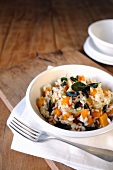 Pumpkin and crispy sage risotto