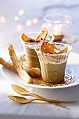 Lentil purée with goose liver for Christmas dinner