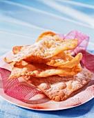 Deep-fried orange blossom pastries