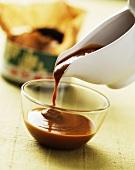 Chocolate sauce with green tea