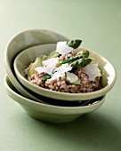 Asparagus risotto with Parmesan