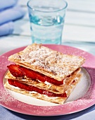 Mille feuilles with strawberries