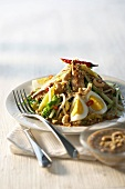 Vegetable salad with eggs and cashew nuts (Indonesia)
