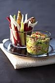 Sardinen-Guacamole mit Gemüsesticks