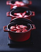 Baked red fruits