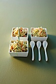 Grated celery with mayonnaise and crab meat