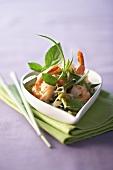 Shrimp salad with basil (Thailand)