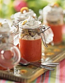 Tomato jelly with sour cream