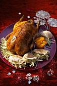 Gänsebraten mit Honigglasur zu Weihnachten