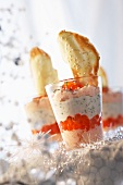 Salmon mousse with caviar for Christmas dinner