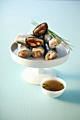 Rice paper rolls with nori and sardines