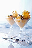 Pineapple ice cream with chilli for Christmas dinner