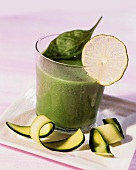 Courgette and sorrel soup with lime