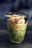 Crab and green apple verrine