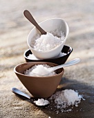 Bowls of fleur de sel