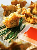 Deep-fried pastries with chives (Asia)