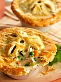 Two Chicken and Vegetable Pot Pies
