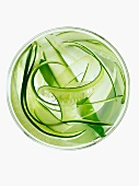 Sliced Cucumber Ribbons in Water