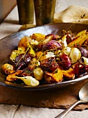 Roasted Roots Vegetables; Beets, Potatoes, Garlic and Thyme